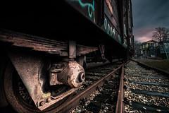 rusty parts (bjdewagenaar) Tags: train track railway railroad rusty decay low angle wide sigma 1020mm sony a58 alpha utrecht holland dutch urban clouds perspective lightroom raw photoshop