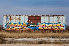 (o texano) Tags: houston texas graffiti trains freights bench benching luke hagr lords