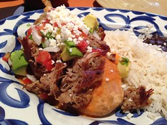 Chile Relleno, Meso Maya, Dallas TX (Deep Fried Kudzu) Tags: meso maya dallas texas chile relleno rice beans