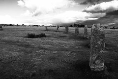 The Hurlers (heathernewman) Tags: thehurlers cornwall bodminmoor blackandwhite landscape uk england clouds outdoor outside stonecircle minions sky