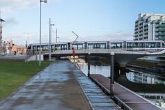 LUAS TRAM BRIDGE [ SPENCER DOCK ]-125149 (infomatique) Tags: dublindocklands luastram bridge spencerdock infomatique williammurphy transport publictransport futuresystems architects royalcanal ccd conventioncentre