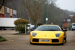 Lose Cop (MJParker1804) Tags: lamborghini murcielago v12 62 supercar yellow giallo orion italian lose cop licence number plate