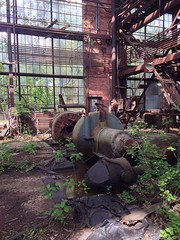 (amy hit the atmosphere) Tags: railroad abandoned industry rust industrial factory decay newengland trains warehouse machinery amtrak urbanexploration railfan trainyard urbanexploring ue urbex railfanning bostonandmaine bostonandmainerailroad