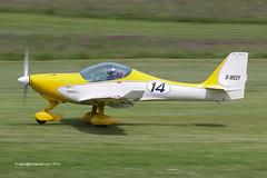 D-MEXY - B & F Funk FK-14 Polaris, departing from Runway 26L at Barton (egcc) Tags: manchester 14 barton polaris cityairport fk14 flyuk egcb fklightplanes bffunk dmexy
