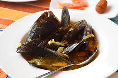 Thai mussels, Restaurant Pantalan, Las Galletas, Tenerife (Snapjacs) Tags: restaurant harbour tapas tenerife seafood pantalan lasgalletas