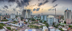 Colombo City Line 01 (Priyantha Bandara) Tags: ocean city travel sea panorama building rooftop skyline architecture skyscraper landscape evening asia cityscape exterior stitch wide wideangle western photomerge tall srilanka colombo cityline