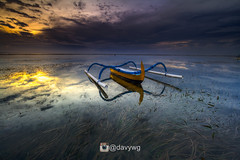 Singled (davywg) Tags: boat sanur bali pantai karang beach sunrise overcast long exposure indonesia canon 60d nisi filter gnd hard soe