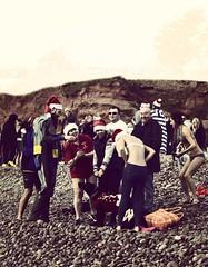 Swimmers getting ready for the dip (sarahgiles2) Tags: devon eastdevon jurassiccoast christmasdayswimming christmasswim budleighchristmasswim budleighsalterton seaswimming seaswim coldwaterswim