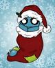 StockingStuffer (BitStrange) Tags: unluckables unluckable unlucky luckycharm monster creature voodoodoll voodoo creepycute creepycuteart lowbrow lowbrowart bigeyes bigeyedart bigeyeart skulls christmas stocking stockingstuffer