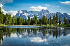 Lago Antorno, Auronzo di Cadore, Belluno, Italy (North Face) Tags: lake italy italien italia dolomites dolomiti see trees mountains mountain reflections clouds nature summer landscape canon eos 5d mark iii 5d3 water alps misurina