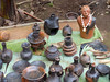 P1060536 Coffee-making & other hand-made traditional pots. PS © (peteshep) Tags: ps peteshep 2016 fz200 copyrightphoto ethiopia dorze village traditional coffeemaking pots pottery handmade