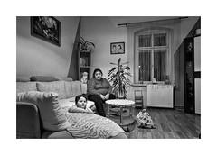 (Jan Dobrovsky) Tags: contrast countrylife countryside document family grain gypsies indoor krásnálípa leicaq monochrome northernbohemia portrait village