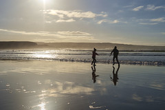 Wave dodging (irishman67) Tags: lahinch lehinch beach countyclare ireland winter sunny waves playing