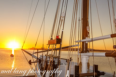 Hecla sunrise,Boston Bay,Port Lincoln (Malcom Lang) Tags: hecla last wooden ketch sail ship national maritime museum australia australian aussie built 1903 salt grain general goods transport axel stenross conservation hvo106 historic vessel vessels boston bay port lincoln southaustralia southern south southernaustralia southerneyrepeninsula southernocean malcomlang malcomlangphotos mal mallangphotography sunrise sun summer morning canoneos6d canon canonef2470mm canon6d canonef city wharf ropes rigging wood beams anchor chain light ngc ag
