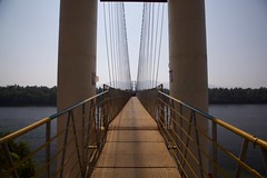Hanging Bridge on Sharavati (jeet_sen) Tags: sea sand beach people sun travel india karnataka mangalore udupi malpe murudeshwar honnavar kundapura kodi kapu tourism island konkan