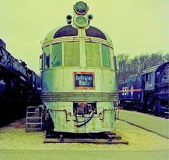 Chicago, Burlington & Quincy  (1 of 2) (gg1electrice60) Tags: stlouis kirkwood stlouiscounty missouri mo museumoftransportation 3015barrettstationroad nearbarberrylaneexitofi270 interstate270 i270 bigbendrd mot motreportingmarksmotx diesel diesellocomotive dieselengine burlingtonroute chicagoburlingtonquincy cbq railroad railroadmuseum streamliner zephyerstreamliner cbqsilverchargernumber9908 cbqno9908 chicagoburlingtonquincy9908 sivercharger powercar railcar bodyworkbuiltbybuddcompany budd powertrainbuiltbygeneralmotors generalmotors gm electromotivecorporation emc electromotivedivision emd emc567v12dieselengine backendofpowercarwasbaggagecar baggagecar electromotiveprimemovergeneratorstractionmotorstrucks primemover generators tractionmorors trucks generalpershingzephyr chicagoillinoismidlandno551 cim282number551 cim282steamlocomotive551 chicagoillinoismidlandlightmikado builtbylima newyorkcentrallocomotiveno2933 nyc482mohawkmountain nyc482number2933 nyc2933builtbyalcoin1929 freightlocomotive chicago illinois midland