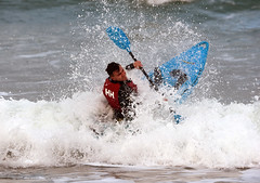 Pushing Through (Gringer1) Tags: portrush whiterocksbeach kayak surf waves northernireland