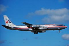 N7583A American 707-123B at KCLE (GeorgeM757) Tags: n7583a american 707123b clevelandhopkins cle classic aircraft alltypesoftransport aviation boeing georgem757 kcle