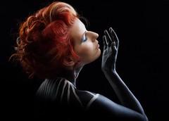 Red and lines-2 (dandrasphoto) Tags: andras deak kovacs dorina portrait creative redhead girl women black red piros vörös lány nő portré smink makeup interasting exinting érdeke sizgalmas