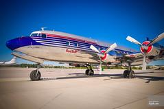 Flying Bulls Douglas DC-6B Super Cloudmaster N996DM (hjakse) Tags: salzburg se airport tito sverige flughafen essa redbull flyingbulls arlanda arn prattwhitney flygplats dc6b douglasdc6 stockholmsln 45563 cloudmaster n996dm r2800 v5ncf yuafa oeldm gbm110