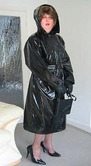 The black mackintosh (smmack) Tags: black rubber mackintosh hooded