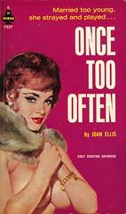 Midwood Books F257 - Joan Ellis - Once Too Often (swallace99) Tags: vintage 60s paperback midwood sleaze handbra furstole