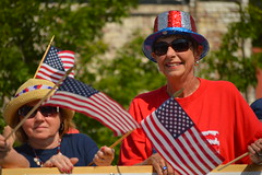 Sunglassses ahoy (radargeek) Tags: oklahoma flag 4th july parade american edmond 2015 libertyfest