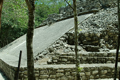 Coba ruins - Ring in the Pok Ta Pok Game (Sameer Bhadouria) Tags: vacation coba sameer sukrutha mexico2015