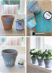 Stencil painted pots (Craft & Creativity) Tags: flowers inspiration painting diy tutorial chalkpaint kalkfrg makecreate