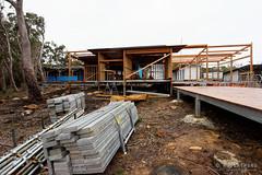 20150718-07-Lunchtime Creek Hut construction on Three Capes Track (Roger T Wong) Tags: winter building trek outdoors nationalpark construction walk australia hike huts tasmania np bushwalk tramp 2015 tasmanpeninsula capepillar sony1635 rogertwong sel1635z sonya7ii sonyilce7m2 sonyalpha7ii sonyfe1635mmf4zaosscarlzeissvariotessart