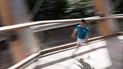 Running up that tower (AxelN) Tags: wood tower movement wideangle running bewegung turm holz laufen bewegungsunschärfe weitwinkel baumwipfelpfad holzbau inmotionunsharpness