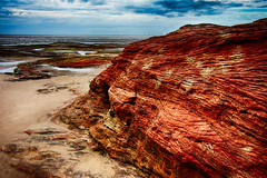 Red Rocks, Wirral (AlexCattrell) Tags: seascape beach landscape sand nikon rocks multipleexposure hdr wirral 7exp d7200