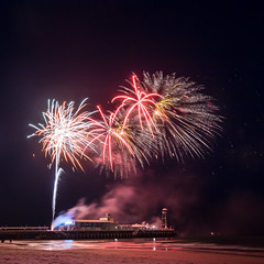 Fireworks (BournemouthMike) Tags: show beach night canon pier bright fireworks events dorset bournemouth canon70d
