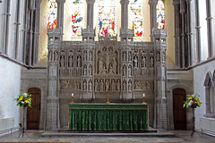 The sanctuary, Brecon Cathedral (pluralzed) Tags: altar anglican brecon breconcathedral cathedral churchinwales powys sanctuary reredos highaltar eastwindow