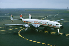 TWA ConnieP (T.O. Images) Tags: twa trans world airlines lockheed constellation connie sfo