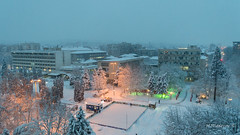 Winter in Montana 04 (Milen Mladenov) Tags: 2017 bulgaria d3200 january montana nikon above center centrum city cityview lights snow snowing square view winter zheravitsa