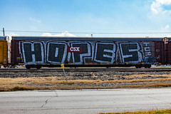 (o texano) Tags: houston teaxs graffiti trains freights bench benching hopes roller wholecar