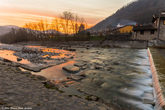 Sunset in Natisone valleys (Paolo Gabriele Maiero) Tags: acqua luce lungaesposizione natura nikon orizzontale roccie torrente tramonto water light nature river stream rocks longexposure sunset landscape view panorama colours autumn valley trees