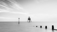 the end (neals pics) Tags: thelastone 100xthe2016edition 100x2016 image100100 my100xbw bw blackwhite monochrome blackandwhite mono longexposure harwich coast coastal sea water clouds sky lighthouse wood