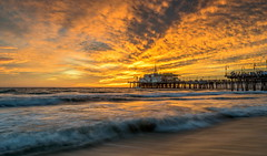 Santa Monica Sunset (ant0191) Tags: holiday santamonica pier california sunset clouds waves unitedstates leegraduatedfilter nikond750