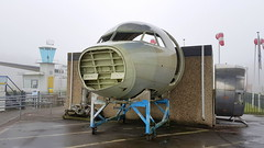 Unfinished Fokker 70 or 100 cockpit (sirgunho) Tags: lelystad aviodrome aviation museum airport dda stichting fokker preserved aircraft aeroplane luchtvaart unfinished 70 or 100 cockpit