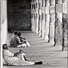 quite place (travelben) Tags: india tamil nadu madurai meenakshi temple parvati hindu bw nb people architecture column blackandwhite religion relax quite meditative asia asian built structure colonnade hall history indian indoors inside goddess avatar street pillaredhall meenakshiammantemple hinduism black white amman shiva parvathi god bharath desi desh