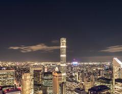 City view from the Top of the Rock (katcheika) Tags: nyc newyorkcity rockefeller penf olympus nightscape longexposure cityscape cityline mzuiko building city topoftherock stars