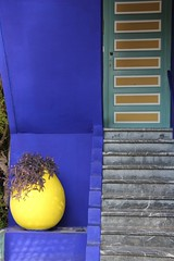 Majorelle Blue (David K. Edwards) Tags: majorelle blue pigment garden stairs door marrakesh rating