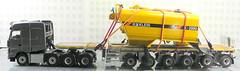 MERCEDES-BENZ AROCS BIG SPACE + FLATBED TRAILER (6 AXLE) - GROHMANN + WATER TANK 777D-020 (Diecasts Collectors Brasil) Tags: mercedesbenz arocs big space slt 8x4 wsi premium line 041175 flatbed trailer 6 axle grohmann power – 9795 water tank 777d