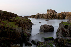 21 (planosdeluz) Tags: large time exposure sea canon 60d tamron 1750mm rocks sunset landscape
