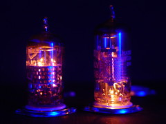 Electronville 2 (wcrpaul) Tags: radiovalve vacuumtube valve tube vacuum dark heater electrode vintagehardware vintageelectronics electrontube cybershot sonycybershot dscf717 paulbackhouse mazda30f5 mazdaef184 electronville flickrific sonyf717 light electricity thermionic