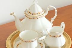 Golden Glory (Gillian Everett) Tags: tea pot cup saucer jug golden glory royalkent bonechina staffordshire