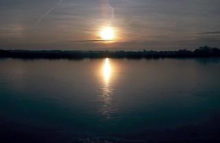 Sonnenuntergang an der Sorge; Badestelle Meggerdorf, Stapelholm (7)