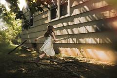 jumpingsticks (LinnMarlen) Tags: girl summer outdoors playing play child fun canon light